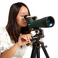 Eyeskey® EK2060 20-60x 60 mm Telescópios BAK7Impermeável / Resistente às intempéries / Genérico / De Alta Potência / Roof Prism / Alta