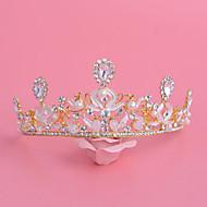 왕관 여성 웨딩 / 특별한날 라인석 / 합금 / 모조 진주 투구 웨딩 / 특별한날 1개