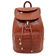 Women PU Bucket Backpack - Blue / Brown / Black