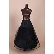Slips A-Line Slip Ball Gown Slip Chapel Train Floor-length Tea-Length 2 Tulle Netting Polyester Black
