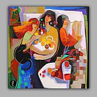 Handgeschilderde MensenModern Eén paneel Canvas Hang-geschilderd olieverfschilderij For Huisdecoratie