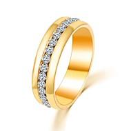 Pierścionki Ślub / Impreza / Codzienny / Casual Biżuteria Cyrkon Damskie Obrączki 1szt,Regulacja