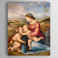 Ručně malované LidéKlasický / evropský styl Jeden panel Plátno Hang-malované olejomalba For Home dekorace