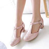 Women's Shoes Leatherette Stiletto Heel Heels Heels Office & Career / Dress / Casual Black / Blue / Pink