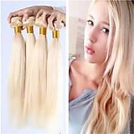 3pcs / lot brasilianska rakt jungfru hår buntar honung blont brasilianska hårträns 100% äkta hår blont löshår