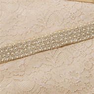 Satin Wedding / Party/ Evening / Dailywear Sash - Beading / Pearls / Crystal / Embroidery Women's Sashes