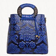 Women PU Barrel Shoulder Bag / Tote - Blue / Green / Red