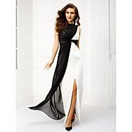 TS Couture® Formal Evening Dress Plus Size / Petite Sheath / Column Bateau Floor-length Chiffon with Criss Cross
