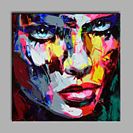 Oil Painting Modern Abstract Pure Hand Draw Ready To Hang Decorative The Face