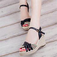 Teletalpú-Parafa-Női cipő-Szandál-Alkalmi-Bőrutánzat-Fekete / Kék / Lila