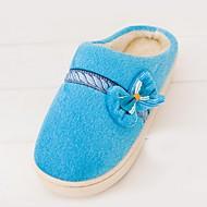 Pantofle-Kašmír-Kulatá špička / Pantofle-Dámská obuv-Modrá / Růžová / Červená-Běžné-Plochá podrážka