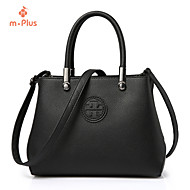 M.Plus® Women's Casual Solid PU Leather Messenger Shoulder Bag/Tote