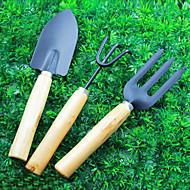 Holzgriff einfache atmosphärische drei Sätze von fleischige Pflanze Bonsai Gartengeräte Gabel Schaufel Harke