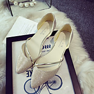 Women's Shoes Bling Flat Heel Ballerina / Pointed Toe Flats Office & Career / Party & Evening / Dress Silver / Gold