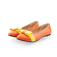 נעלי נשים - שטוחות - עור פטנט - בלרינה / שפיץ - שחור / בז' / כתום - משרד ועבודה / שמלה / קז'ואל - עקב שטוח