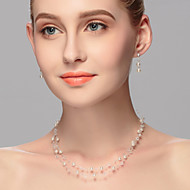 Women's Imitation Pearl Jewelry Set Imitation Pearl
