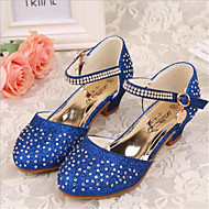 Girls' Shoes Outdoor / Casual Heels Faux Leather Heels Blue / Pink