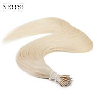 """neitsi® 20 """"1 g / s nano Ringschleife gerades Haar 100% Echthaar Haarverlängerungen 60 # include Haar-Tools"""