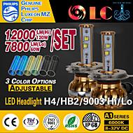 liancheng® 30w / 60w 7800lm / 12000lm 9 ~ 32v haute luminosité LED phare kit-h4 / 9003 / HB2 pour la voiture, hors route, UTV, atv