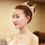 Bride's Rhinestone Vintage Forehead Wedding Crown Tiaras Headwear 1 Pieces