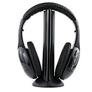 mh2001 sluchátkový 3,5 mm nad uchem 5 v 1 bezdrátový mikrofon s FM rádio pro MP3 / PC / TV