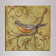 Mini Size Canvas Print One Panel Framed art bird painting