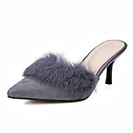 נעלי נשים - בלרינה\עקבים - עור - עקבים / רצועה אחורית - שחור / אפור - שמלה / קז'ואל - עקב סטילטו