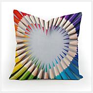 Colorful Geometry Nature Home Cotton Linen Throw Pillow Case Cartoon Decorative Cover Small Pillowcase 45X45cm