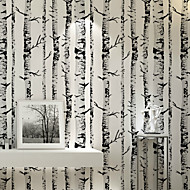 PALUTON Trees/Leaves Wallpaper Contemporary Wall Covering , Non-woven Paper Simple Green Woods