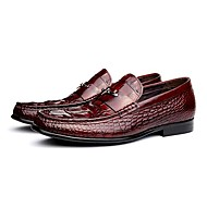 Men's Shoes Amir 2016 New Style Pure Manual Office / Night Party Comfort Cowhide Leather Loafers Black / Burgundy