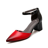 Women's Shoes Leatherette Chunky Heel Heels / D'Orsay & Two-Piece / Pointed Toe Sandals / Heels Wedding / Outdoor