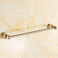 Antique Copper and Crystal Wall Mounted 60CM Length Bathroom Towel Bar