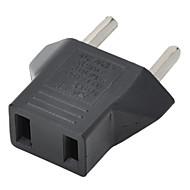 US-Stecker auf eu-Stecker-Adapter - schwarz
