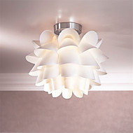 White Flower  Ceiling Light 1-Light Pendant Living Room / Bedroom / Dining Room / Kitchen  Hanging Lamp Fixture