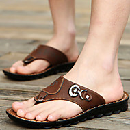 Men's Shoes Outdoor / Office & Career / Work & Duty / Athletic / Dress / Casual Synthetic Slippers Brown