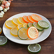 20pcs Artificial Lemon Slices Fake Lifelike Decorative Plastic Fruit (Random Color)
