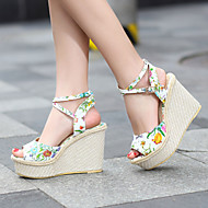 Women's Shoes Heel Wedges / Heels / Peep Toe / Platform Sandals / Heels Outdoor / Dress / Casual White / Silver / Gold