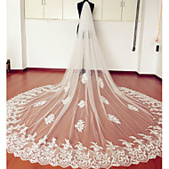 Wedding Veil Two-tier Elbow Veils / Chapel Veils / Cathedral Veils Lace Applique Edge