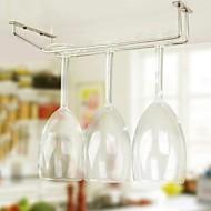 Nový nerezové oceli vína držák sklenek vína rack úložný prostor pod skříň držáku organizátor skleněné