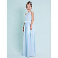 Lanting Bride® Gulvlang Chiffon Junior brudepikekjole Tube / kolonne Haltertopp med