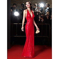 ts couture® formales Abendkleid Mantel / Spalte Halfter bodenlangen Pailletten mit Pailletten