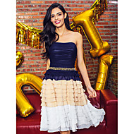 Homecoming TS Couture® Cocktail Party Dress - A-line Strapless Knee-length Chiffon