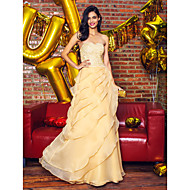 Formal Evening Dress - Champagne A-line Sweetheart Ankle-length Lace / Organza