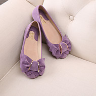 Women's Shoes Suede Flat Heel Moccasin / Round Toe / Closed Toe Flats Casual Blue / Yellow / Pink / Purple