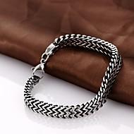 personlighed retro mænds rustfrit stål armbånd smykker