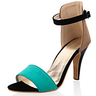 Women's Shoes Cone Heel D'Orsay & Two-Piece / Open Toe Sandals Casual Green / Pink / Orange