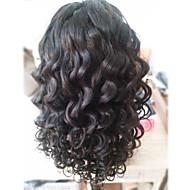 """חזית תחרת שיער בתולה ברזילאית פאות פאות שיער אדם עבור נשים שחורות 8 """"-30"""" פאת חלק גוף הגל u"""