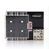 8-Way Block Holder Circuit Fuse Box With Cover For Auto Vehicle Car Truck