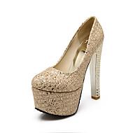 נעלי נשים-בלרינה\עקבים-חומרים בהתאמה אישית-עקבים-כסוף / זהב-חתונה / משרד ועבודה / שמלה / מסיבה וערב-עקב עבה
