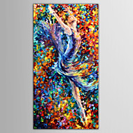Hand-Painted People / Nude / Abstract PortraitEuropean Style One Panel Canvas Oil Painting For Home Decoration